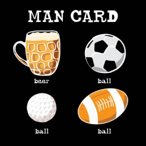 Man card, e-card design