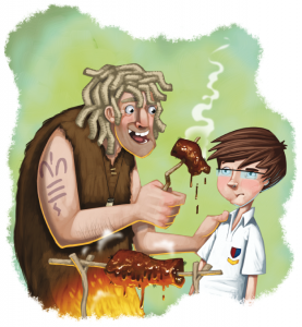 illustration by Andy Elkerton, for Time Jump Scholastic reader