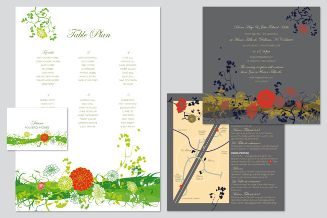 Design and Illustration of wedding stationery